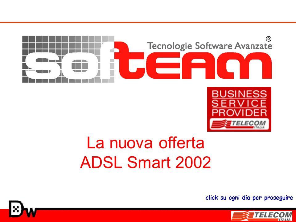 La nuova offerta ADSL Smart 2002 click su ogni dia per proseguire