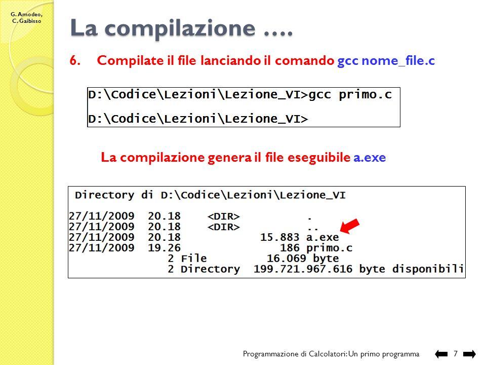 G. Amodeo, C. Gaibisso La compilazione ….