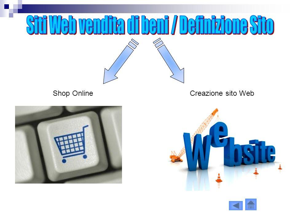 Shop OnlineCreazione sito Web