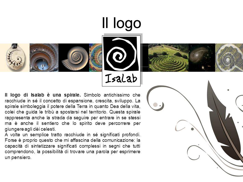 Il logo Il logo di Isalab è una spirale. Simbolo antichissimo che racchiude in sé il concetto di espansione, crescita, sviluppo. La spirale simboleggi