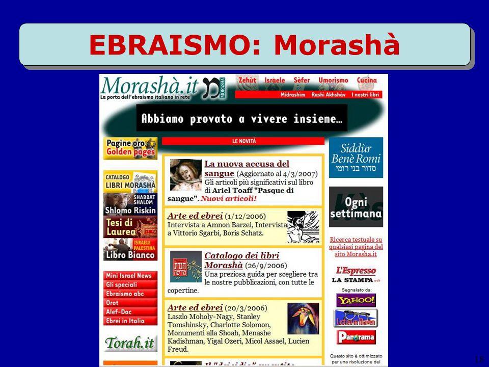 18 EBRAISMO: Morashà
