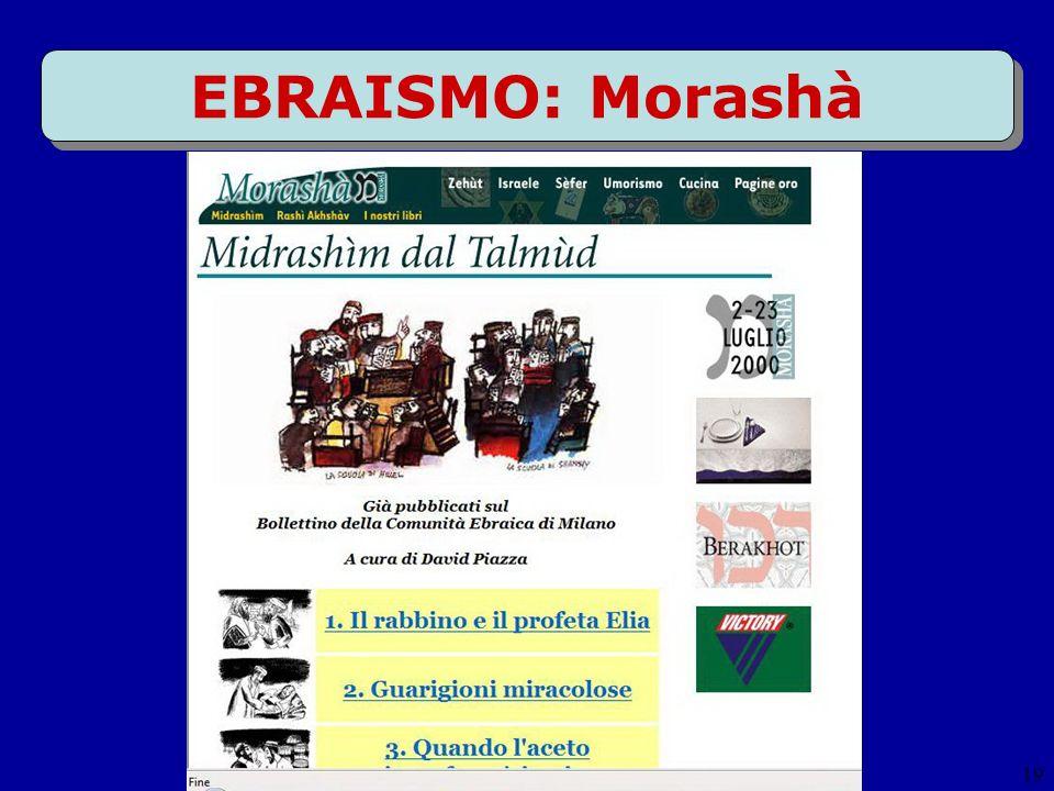 19 EBRAISMO: Morashà