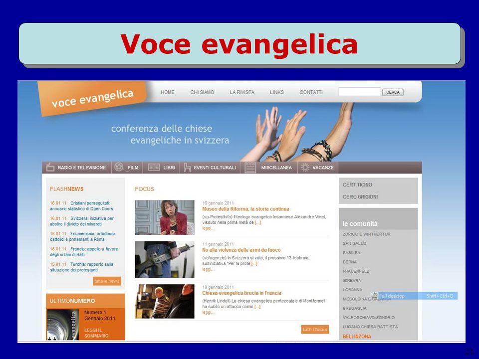 21 Voce evangelica