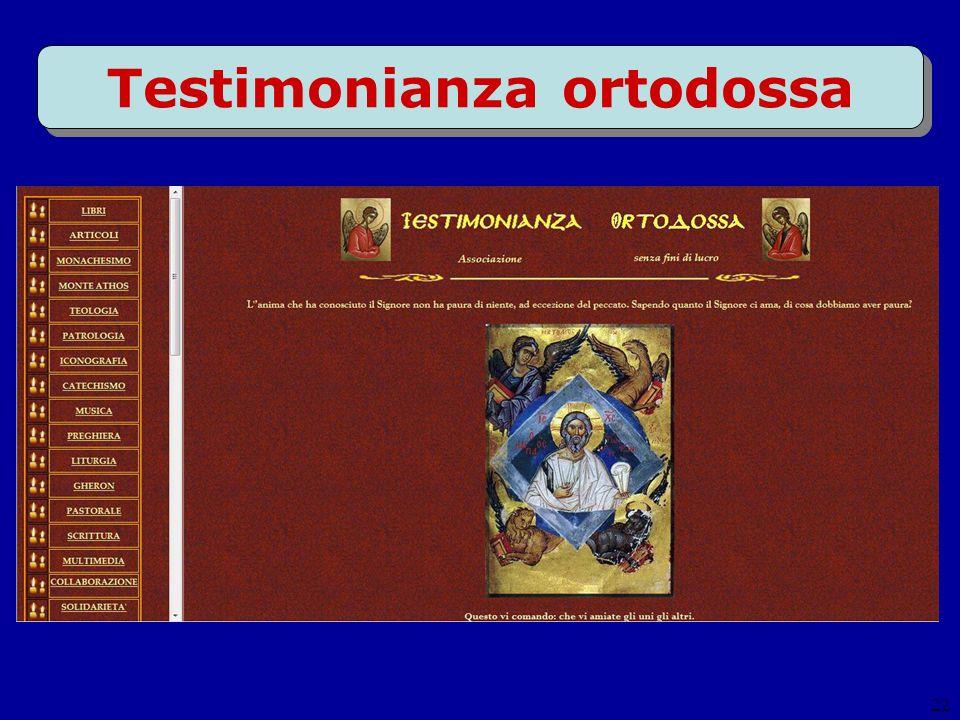 22 Testimonianza ortodossa