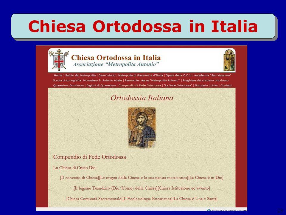 23 Chiesa Ortodossa in Italia