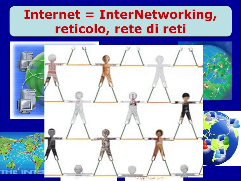 Internet = InterNetworking, reticolo, rete di reti