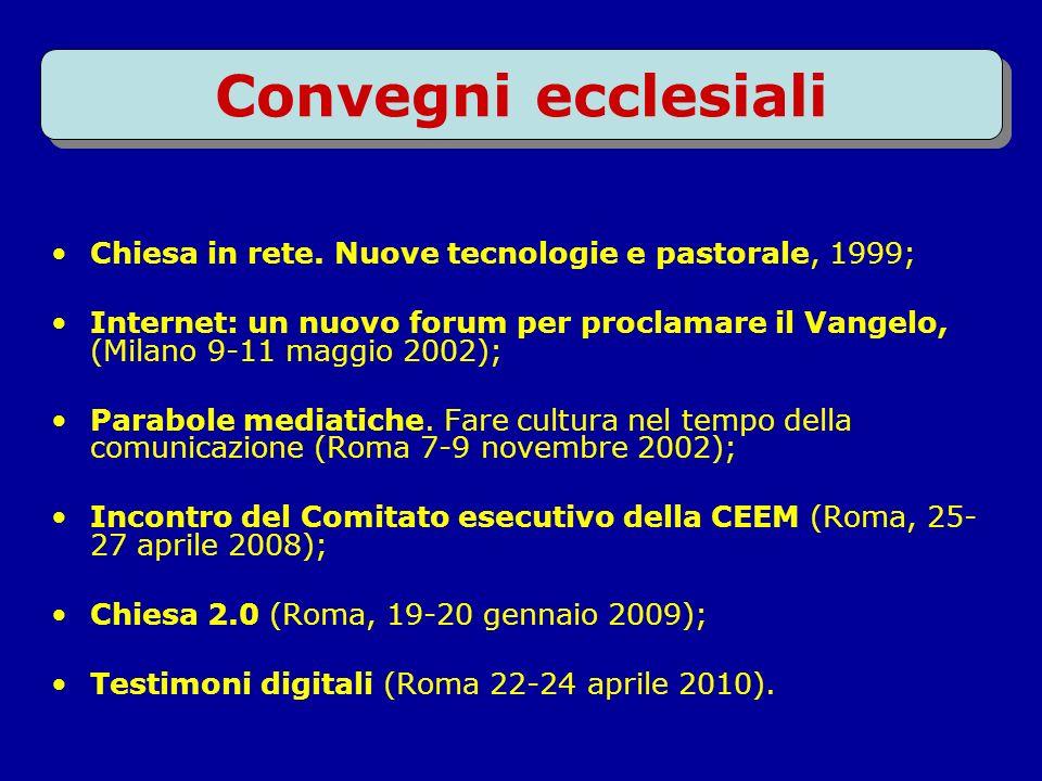 Convegni ecclesiali Chiesa in rete.