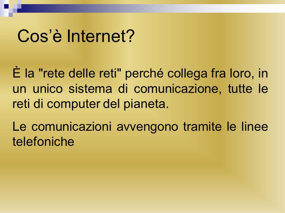 Cosè Internet? È la