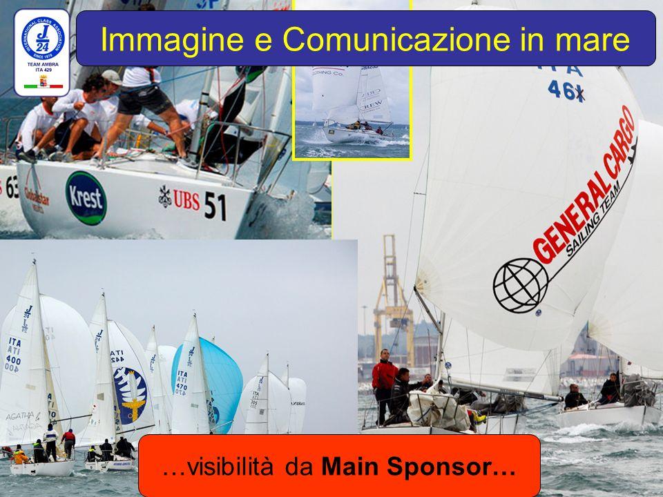 …visibilità da Main Sponsor… Immagine e Comunicazione in mare