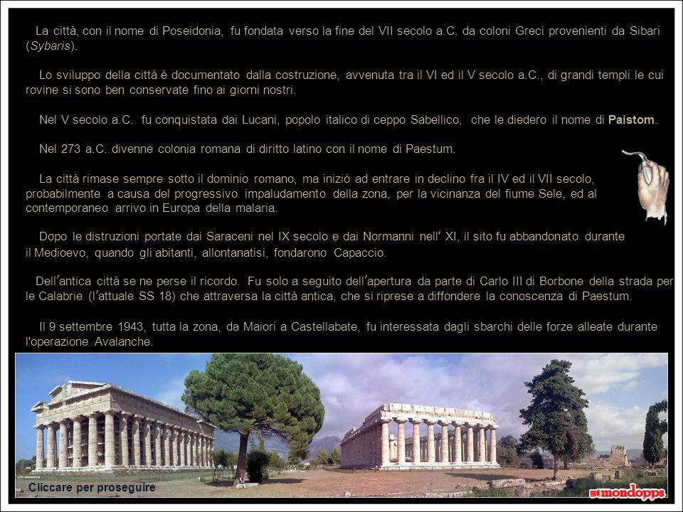Tempio di Nettuno 20 secondi Tempio di Hera o Basilica Via Sacra Foro Abitazioni
