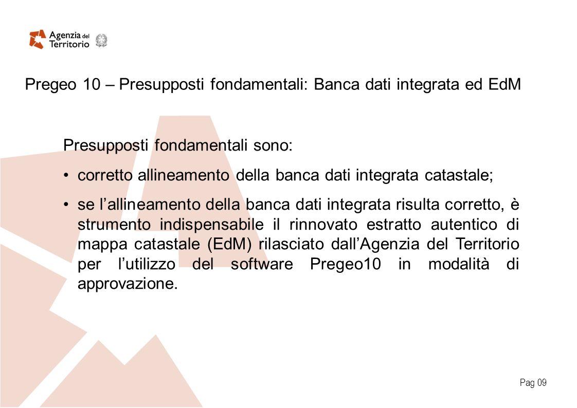 Pag 09 Presupposti fondamentali sono: corretto allineamento della banca dati integrata catastale; se lallineamento della banca dati integrata risulta