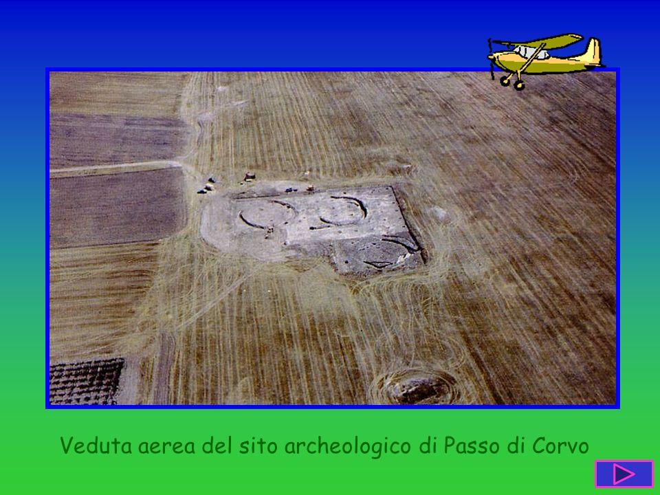 Veduta aerea del sito archeologico di Passo di Corvo