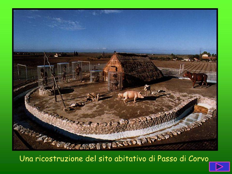 Una ricostruzione del sito abitativo di Passo di Corvo