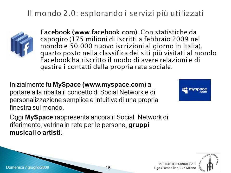 Parrocchia S. Curato dArs L.go Giambellino, 127 Milano Facebook (www.facebook.com).