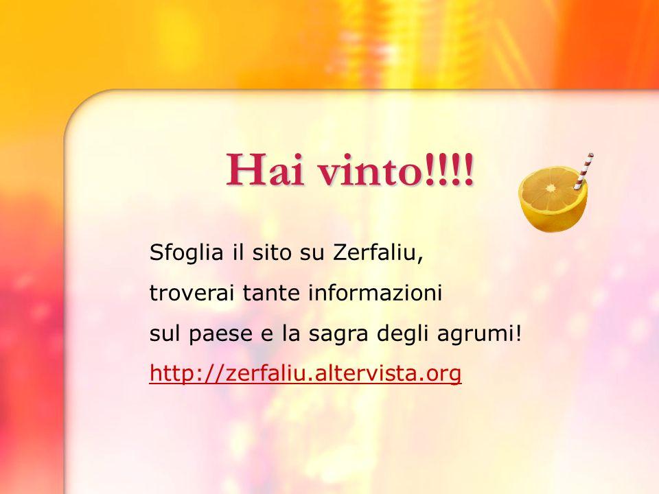 Grazie per aver giocato Sfoglia il sito su Zerfaliu, la prossima volta sarai più preparato.