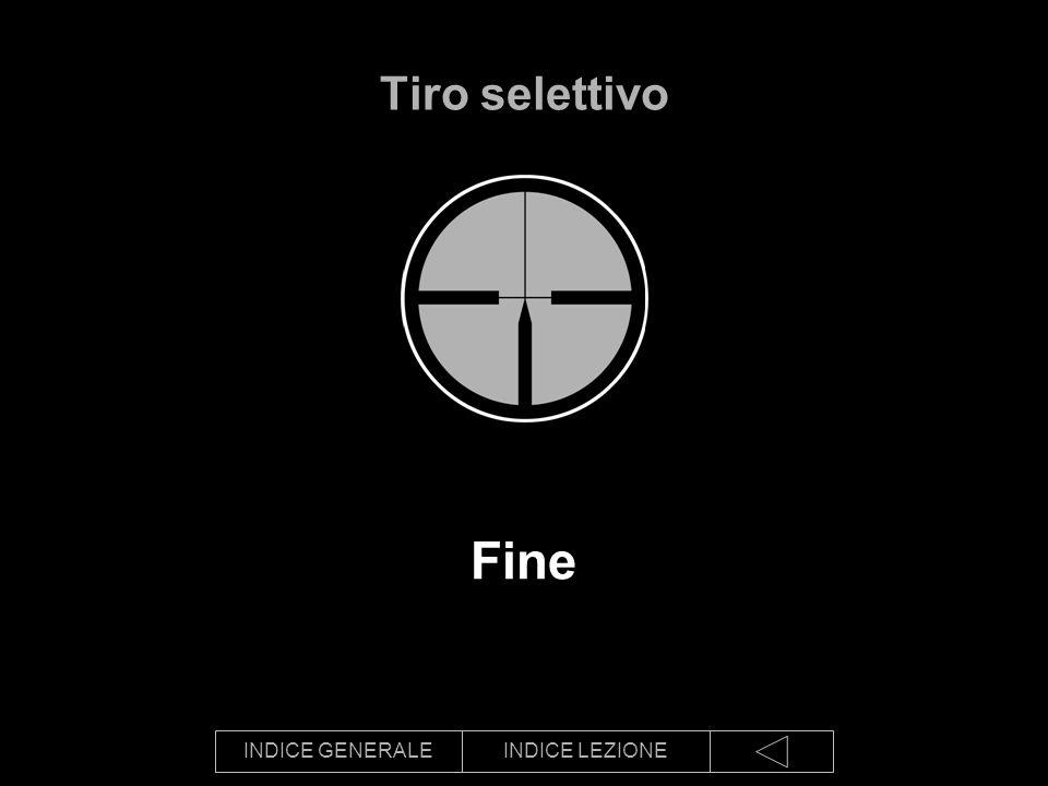 INDICE GENERALEINDICE LEZIONE Fine Tiro selettivo