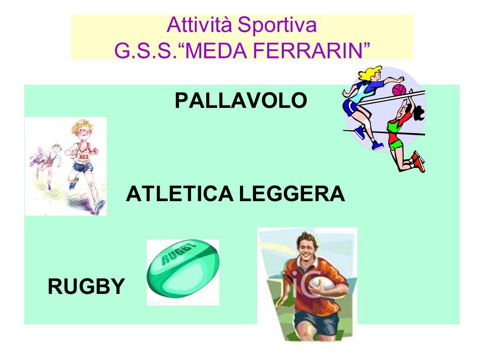 Attività Sportiva G.S.S.MEDA FERRARIN PALLAVOLO ATLETICA LEGGERA RUGBY