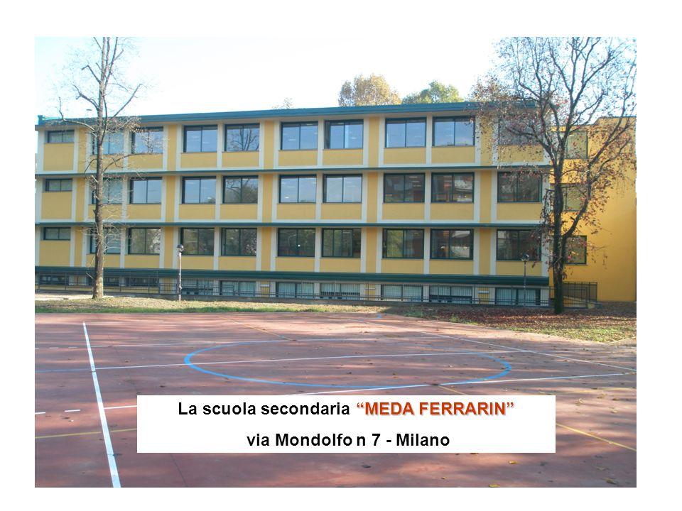 MEDA FERRARIN La scuola secondaria MEDA FERRARIN via Mondolfo n 7 - Milano