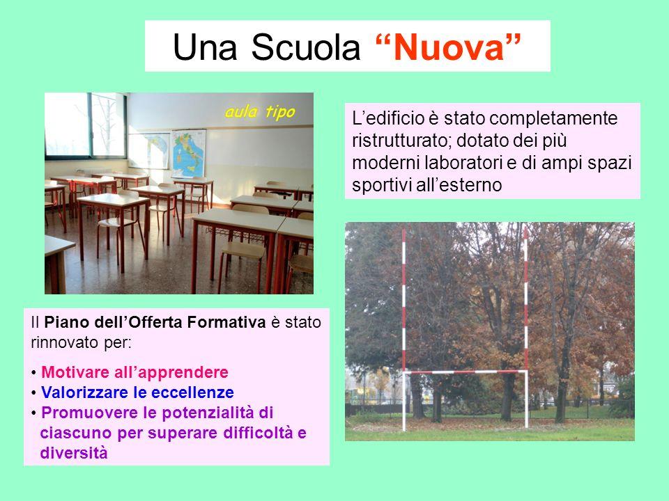Una Scuola Nuova Ledificio è stato completamente ristrutturato; dotato dei più moderni laboratori e di ampi spazi sportivi allesterno Il Piano dellOff