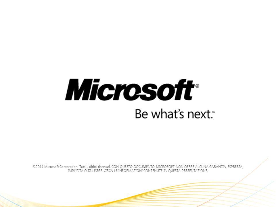 ©2011 Microsoft Corporation.Tutti i diritti riservati.