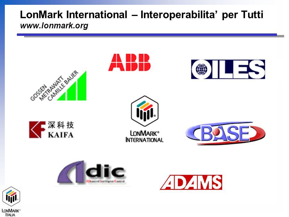 LonMark International – Interoperabilita per Tutti www.lonmark.org