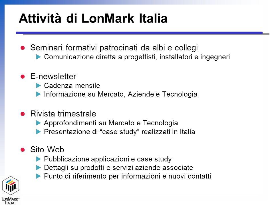 LonMark Italia Per informazioni LonMark Italia Centro Direzionale Milano Oltre Palazzo Tintoretto 20090 Segrate (MI) Tel.
