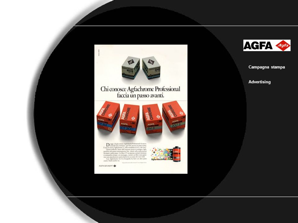 Agfa3 Campagna stampa Advertising