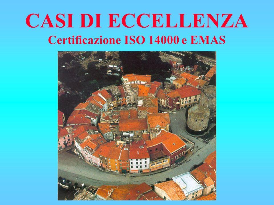 CASI DI ECCELLENZA Certificazione ISO 14000 e EMAS