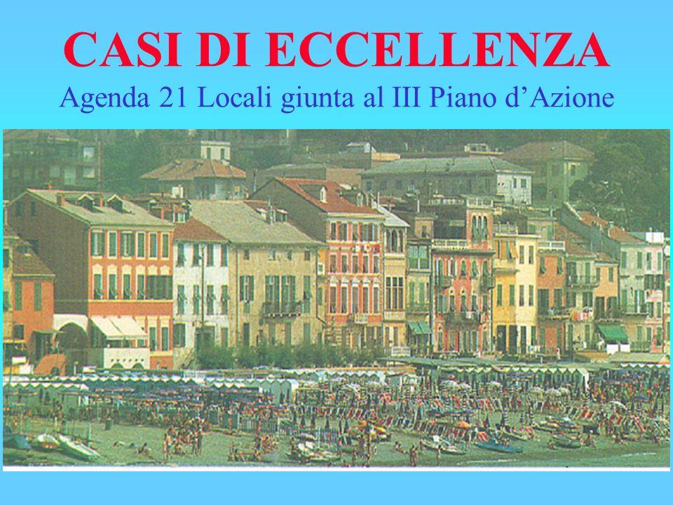 CASI DI ECCELLENZA Agenda 21 Locali giunta al III Piano dAzione