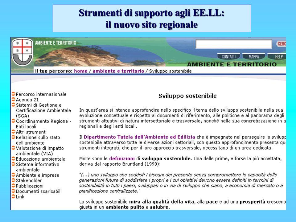 Strumenti di supporto agli EE.LL: il nuovo sito regionale