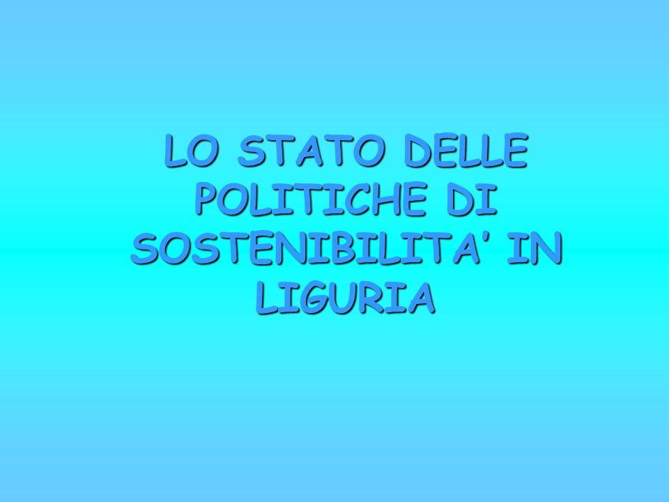 LO STATO DELLE POLITICHE DI SOSTENIBILITA IN LIGURIA