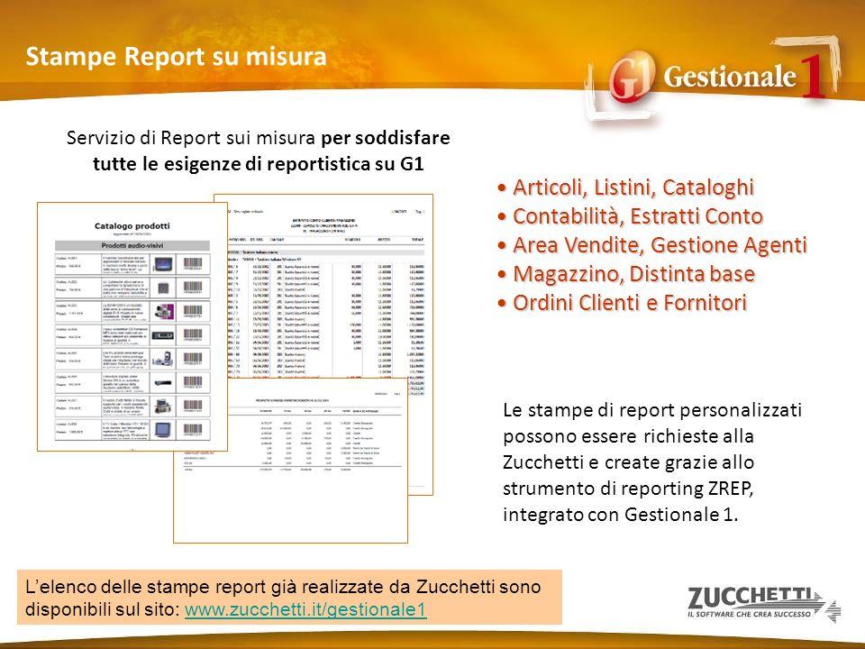 Stampe Report su misura Servizio di Report sui misura per soddisfare tutte le esigenze di reportistica su G1 Articoli, Listini, Cataloghi Articoli, Li