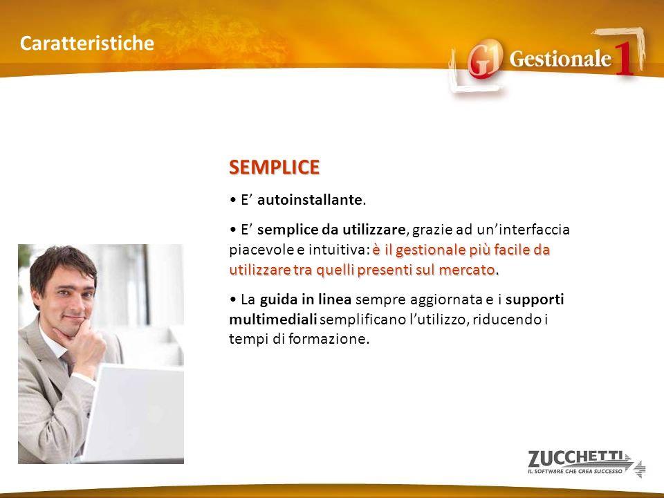 Area contabile e finanziaria Moduli (5) Collegamento al software per Commercialisti importare in Gestionale 1 il Piano dei contie le anagrafiche di clienti e fornitori.