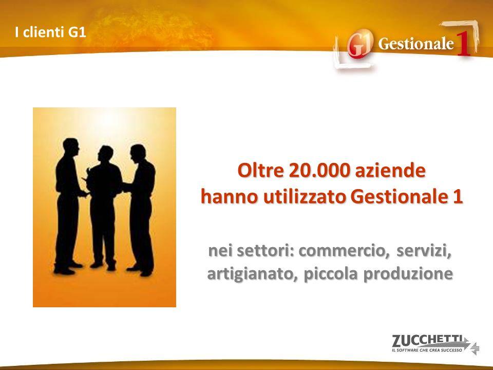 I clienti G1 Oltre 20.000 aziende hanno utilizzato Gestionale 1 nei settori: commercio, servizi, artigianato, piccola produzione