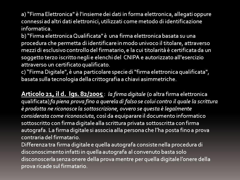 a) Firma Elettronica