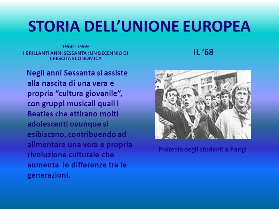 STORIA DELLUNIONE EUROPEA I sei membri fondatori sono il Belgio, la Francia, la Germania, lItalia, il Lussemburgo e i Paesi Bassi. Gli anni Cinquanta