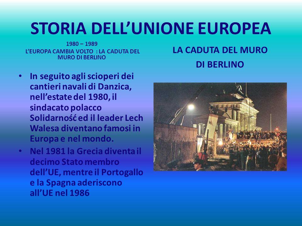 STORIA DELLUNIONE EUROPEA La caduta del regime di Salazar in Portogallo nel 1974 e la morte del generale Franco in Spagna nel 1975 segnano la fine del