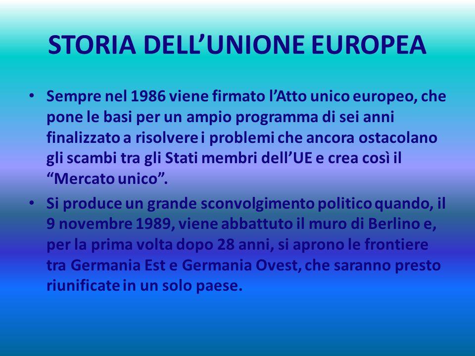STORIA DELLUNIONE EUROPEA 1980 – 1989 LEUROPA CAMBIA VOLTO : LA CADUTA DEL MURO DI BERLINO In seguito agli scioperi dei cantieri navali di Danzica, ne