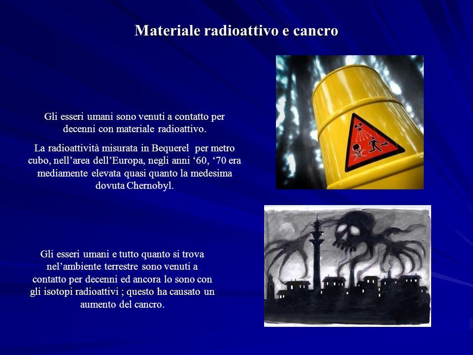 Gli esseri umani sono venuti a contatto per decenni con materiale radioattivo.