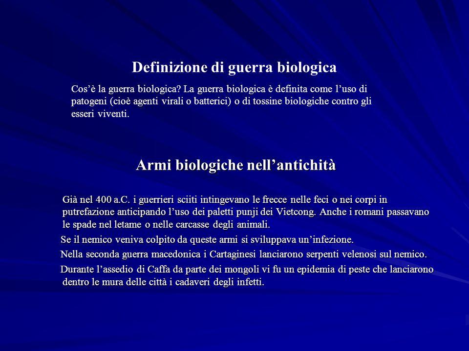 Armi biologiche nellantichità Già nel 400 a.C.
