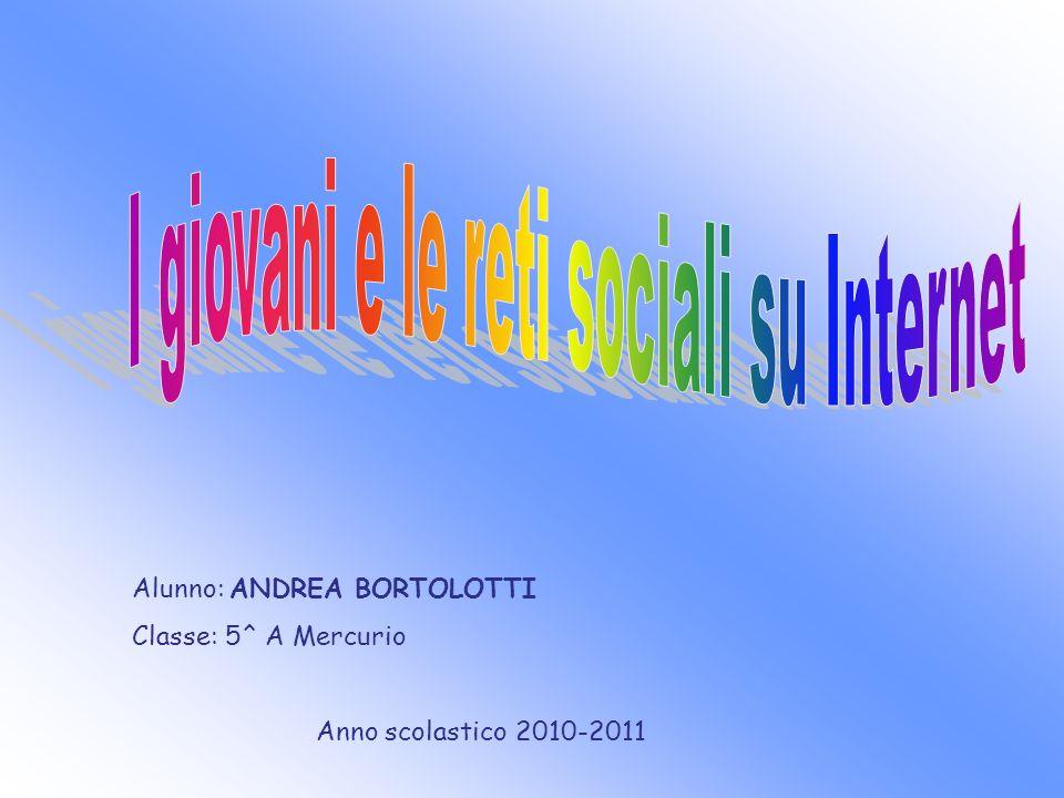 Alunno: ANDREA BORTOLOTTI Classe: 5^ A Mercurio Anno scolastico 2010-2011