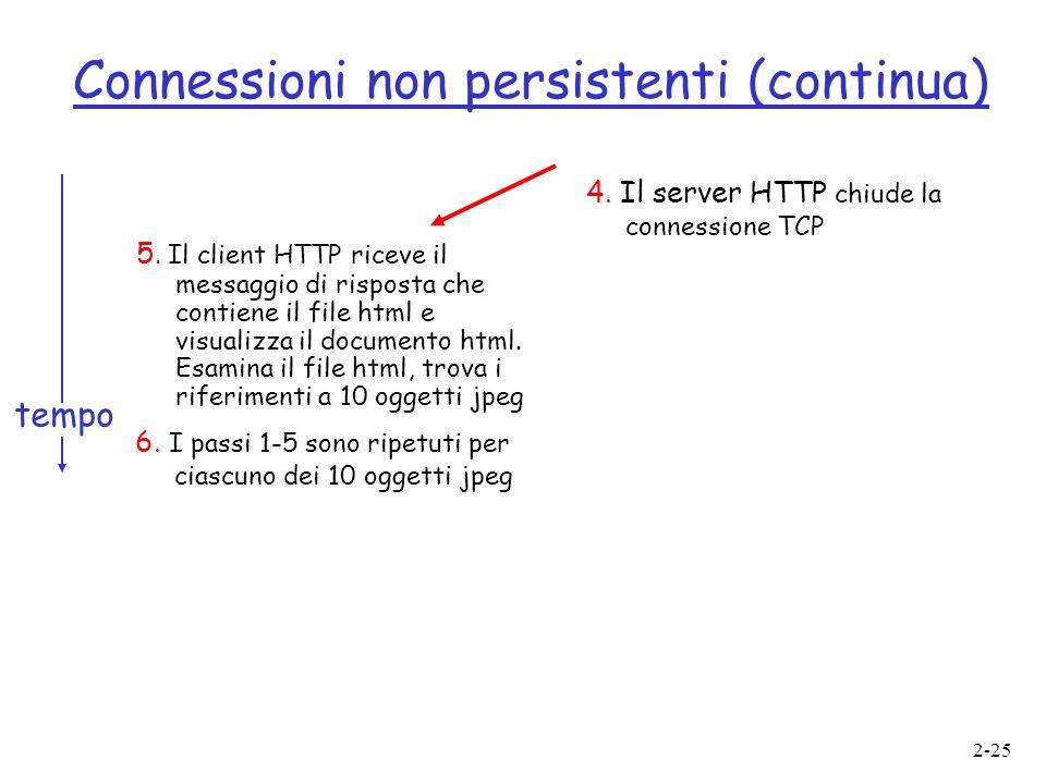 2-25 Connessioni non persistenti (continua) 5.