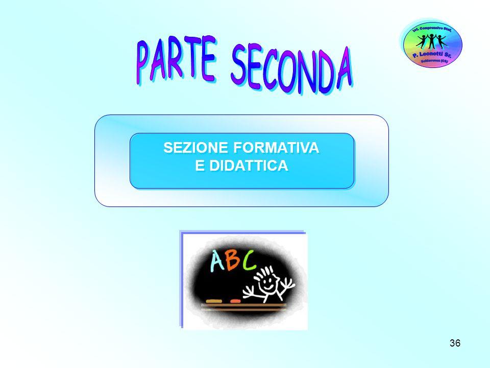 36 SEZIONE FORMATIVA E DIDATTICA SEZIONE FORMATIVA E DIDATTICA