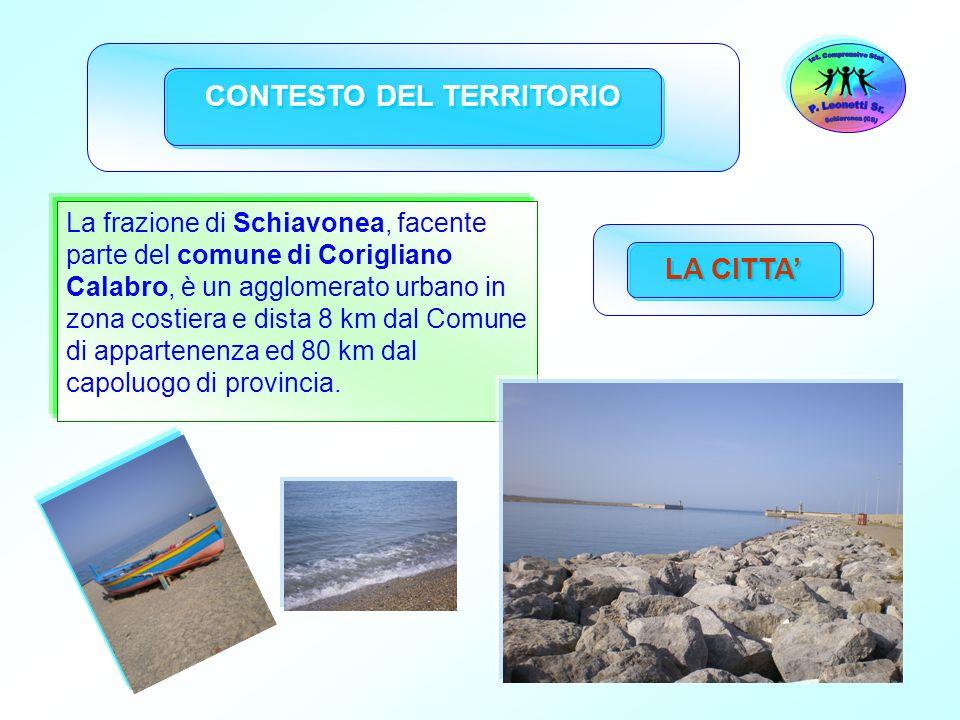 37 La frazione di Schiavonea, facente parte del comune di Corigliano Calabro, è un agglomerato urbano in zona costiera e dista 8 km dal Comune di appa