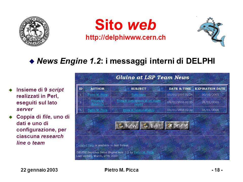 22 gennaio 2003Pietro M.