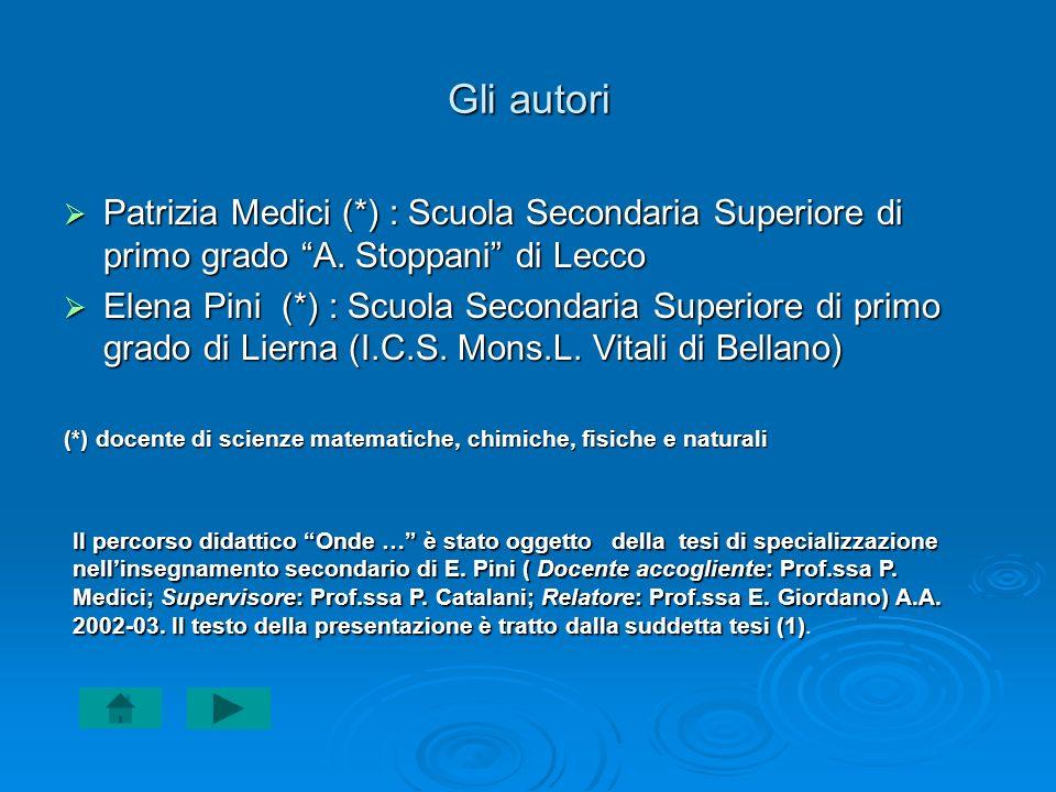 Patrizia Medici (*) : Scuola Secondaria Superiore di primo grado A.