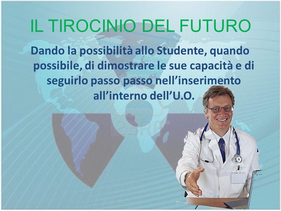 IL TIROCINIO DEL FUTURO Dando la possibilità allo Studente, quando possibile, di dimostrare le sue capacità e di seguirlo passo passo nellinserimento allinterno dellU.O.
