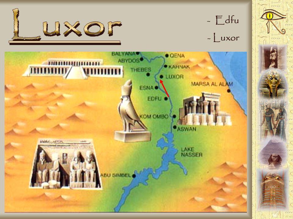 - Il tempio di Horus - Falco che rappresenta Horus - Barca sacra