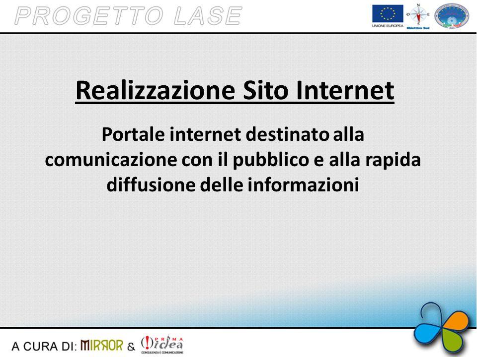 Realizzazione Sito Internet Portale internet destinato alla comunicazione con il pubblico e alla rapida diffusione delle informazioni