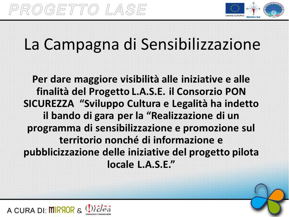 La Campagna di Sensibilizzazione Per dare maggiore visibilità alle iniziative e alle finalità del Progetto L.A.S.E.